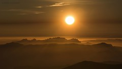 Toasted sunset. (Jesús Puigmartí) Tags: color landscape nature sunset sun sky orange montseny vallesoriental barcelona catalunya catalonia montserrat mountain atmosphere coloured nikon nikkor manfrotto d7100 views bages winter february unesco unescomab