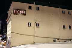 Motel (Curtis Gregory Perry) Tags: motel pullman washington state inn night snow building sign longexposure lodging nikon d810