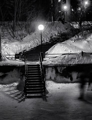 Winterscape 2019 # 73  .... (c)rebfoto (rebfoto...) Tags: monochrome stairs stairway winter rebfoto winterscape snow skating ice