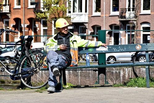 Man At Work - Kwakersstraat Amsterdam