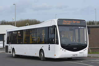 BUS5 YJ68 FRX Newcastle Airport Park & Fly