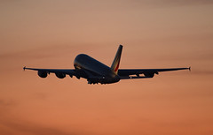 F-HPJB - 4/5/19 (nstampede002) Tags: airfrance france airbus airbusa380 airbusa380800 a380 a380800 katl aviationphotography commercialaviation airliner sunset