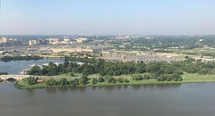 View of Pentagon on approach to DCA (procrast8) Tags: potomac river arlington va virginia washington dc district columbia basin pentagon lagoon yacht george memorial parkway navy merchant marine crystal city lyndon baines johnson grove