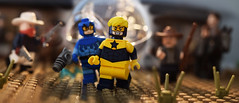 Out West (Andrew Cookston) Tags: lego cowboys old wild west dc comics boostergold bluebeetle ted kord funnybrick andrew cookston andrewcookston