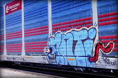 (timetomakethepasta) Tags: anti tlc freight train graffiti art hello mexico ferromex autorack h2