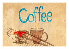 Wall Coffee (Daniela 59) Tags: wall wednesdaywalls sign coffee cup coffeecup shadow ribbon bitterfontein southafrica danielaruppel