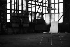 (Mikko Luntiala) Tags: 2018 abandoned bw blackandwhite chair d600 december finland graffiti helsinki hylätty ikkunat joulukuu mikkoluntiala mustavalkoinen nikond600 pasilankonepaja suomi tamronsp70200mmf28divcusdg2 tuoli urbanexploration urbex vallila windows