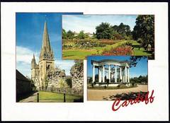 Llandaff Cathedral - Roath Park Gardens - National War Memorial of Wales (tico_manudo) Tags: wales gales reinounido unitedkingdom europa postcards cardiff llandaffcathedral roathparkgardens nationalwarmemorialofwales