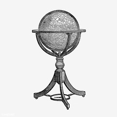 Vintage globe stand illustration (Free Public Domain Illustrations by rawpixel) Tags: british antique art atlas black blackandwhite cc0 creativecommons0 decoration design designresource drawing earth education engraving etching europe european exploration geographical geography global globe handdrawn historical history icon illustration ink journey knowledge learn library map name navigation nostalgic oldfashioned ornament pen psd publicdomain retro sketch sphere stand study style symbol tattoo travel vintage world