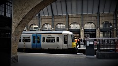 Ready For Departure. (ManOfYorkshire) Tags: govia greatnorthern train railway emu electric multiple unit class365 networker ready depart departure kingscross london station architecture stone curves arches