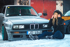 Rocket Bunny pandem pre facelift E30 Latvia (Sandra_Step) Tags: nardo gray steelies low e30 bmw pre facelift cross pfl tire lights pandem rocket bunny rb drift car driftgirl latvia daugavpils cargirl girl