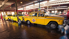 Checking out the Checkers (Pete Zarria) Tags: indiana checker taxi yellow old museum auburn cord auto car