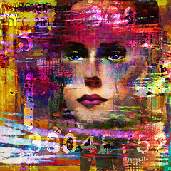 Obscured No.12 (triciadewey) Tags: digitalart digital ipad mobileartistry mobileart figurative face