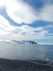 Beautiful Sky, Elephant Island (Mulligan Stu) Tags: antarctica elephantisland antarcticpeninsula chinstrappenguin