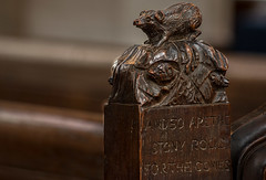 Also are the stony rocks for the conies... (+Pattycake+) Tags: wortham stmarys suffolk pewends pew carvings wood interior church