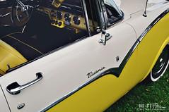 Her Name Was Victoria (Hi-Fi Fotos) Tags: 1950s ford crown victoria vintage american classiccar fairlane twotone yellow white chrome retro americana door badge nikon d5000 hififotos hallewell