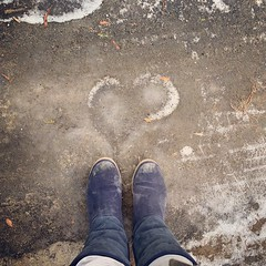 Sending You 💜. www.jessica365.com (Jessica Brookes-Parkhill) Tags: boots uggs uggboots dirtyboots fromwhereistand lookdown iceicebaby frozenheart foundhearts foundheart jessica365