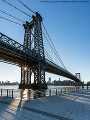 Williamsburg Bridge (20190216-DSC04785) (Michael.Lee.Pics.NYC) Tags: newyork brooklyn williamsburgbridge eastriver dominopark bridge sun architecture cityscape sony a7rm2 voigtlanderheliar15mmf45