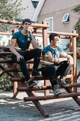 Chill (The Milker) Tags: esports casual fashion nostalgic color boys youngmen serious fullbody perspective dudes