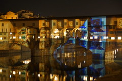 DSC09387 (Fulvio aXu) Tags: florence firenze luci lights ponte vecchio old bridge christma natale feste holiday arno river tuscany toscana