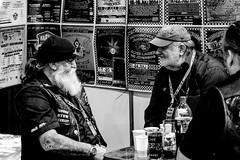 Small Talk (Explored) (JuliSonne) Tags: rocker biker talk motocyclistfan break beard men