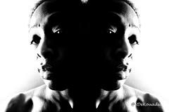 Self Portrait (Stephenie DeKouadio) Tags: art artistic artwork hypnotique selfportrait selfie portrait portraitphotography blackandwhite monochrome darkandlight light shadow shadows woman lovely