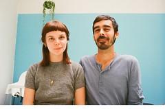 Lovers (Caroline Kutchka Folger) Tags: lovers people belgium europe ghent blue naturallight 35mm film analog kodak400 kodakfilm canonrebel couple kodakultra travel humans