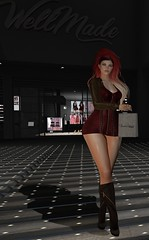 Smile anytime (JoytiBloom of Second Life) Tags: wellmade belleza maitreya slink mesh dress secondlife fashion photography art clothes boots red colors brown black