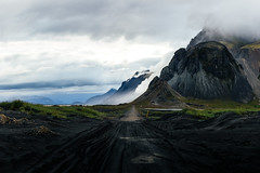 Iceland (marinaweishaupt) Tags: iceland stokksnes road roadtrip outdoor mountain hill clouds dunes black landscape photography travel