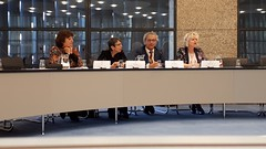 The expert panel in the discussion about women in policital and leading functions at Binnenhof, The Hague (Alta alatis patent) Tags: denhaag government klijnsma boxtel benschop spies discussion panel binnenhof