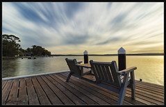 Peace and Solitude (itsallgoodamanda) Tags: wharf jervisbayphotography jervisbay jetty jetties privatejetty trees ocean shoalhaven seascape sea seaside southcoast stgeorgesbasin sky sunset sunsetphotography itsallgoodamanda photography photoborder peaceful pier woodenseat newsouthwales coastallandscape coastal clouds colourfullandscape coastline coast calmocean colourfulsunset landscape landscapecoast amandarainphotography australia australianphotography australianlandscape australiassouthcoast summer2019 summersunset australiaseastcoast