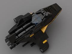 Hound Microfighter v2 (FraG - OutOfTheBox) Tags: microscale microspacetopia lego legomicroscale legoscifi legospace legomoc