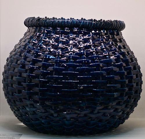 """Garden Vase """"Cesto de Vime"""" [Wicker Basket] (1901) - Rafael Bordalo Pinheiro (1846 - 1905)"""