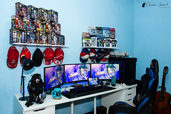 Workstation as of 03-06-2019 (Bright Ideas with Chan Udarbe) Tags: adobe cc creativecloud d7200 editingrig gamingrig glamourshot lightroomclassic nikon onshoeflash pc personalcomputer racesimulator sb600 sigma1750mmf28exdcoshsm wokrstation studio battlestation flickr fun colors color