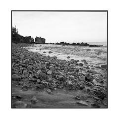 blockhaus 2 • villerville, normandy • 2018 (lem's) Tags: bunker blockhaus beach plage pebbles sea ocean mer wwii villerville normandie normandy rolleiflex t