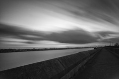 Racing clouds (dwimagesolutions) Tags: england essex tilbury thamesestuary riverthames bw bigstopper winter nikond200 sigma1020mmf456