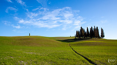 Colors of Tuscany (mattiaros) Tags: tuscany colors green blue hills clouds sky trees spring