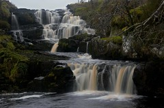 Waterfall. (carolinejohnston2) Tags: falls river ireland cocavan landscape outdoors bog tree rocks cliff water cascades longexposure