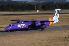 G-PRPG DHC-8-402 EGPH 25-02-18 (MarkP51) Tags: gprpg dehavillandcanada dhc8402 dhc8 dash8 flybe be bee nburgh airport edi egph scotland aviation airliner aircraft airplane plane image markp51 nikon d7200 nikon70200f4vr sunshine sunny planeporn