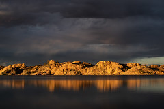 Storm Rolling in (M@ H) Tags: arizona clouds prescott sunset water willowlake colors dells reflection rocks southwest storm