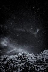Nightsky above Säntis - Switzerland (Patrik S.) Tags: säntis schwägalp ostschweiz appenzell mountain night snow winter cold dark fog black blue nature sky landscape sony a7iii a7m3 rock rocks frozen ice switzerland myswitzerland tourist laternliweg der berg nightsky stars