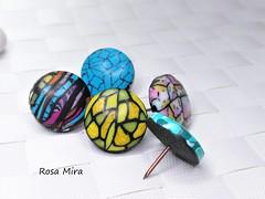 Chinchetas de arcilla polimérica (Espuma de mar by Rosa Mira) Tags: chinchetas fimo arcilla clay polymer polimerica polymerclay polyclay cernit pushpin