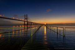 Vasco da Gama bridge (george papapostolou) Tags: vasco da gama bridge vascodagamabridge lisbon portuga travel nikon nikonphotographer travelphotographer sunrise