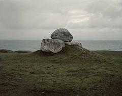 skjutfaltet2 (Anders Hviid) Tags: large format 4x5 sinar negative kodak portra 160 nc sweden skåne sea ocean stone sculpture art horizon
