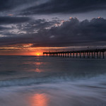Sunset over the Venice Fishing Pier, Venice, Florida thumbnail