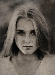 Bromoil #5 (stephen.björck) Tags: bromoil oil mamiya sekor 210 apo paper print girl blonde hair ink darkroom 6x7 medium format portrait fomabrom variant 113 bo rz67 alternativeprocess