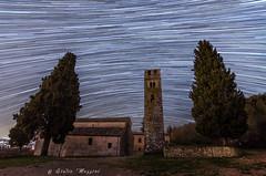 South star (Giulio Mazzini) Tags: chiesa church cielo cipressini night notte pernina pieve siena sky star startrail stelle toscana