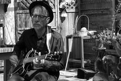 jerry playing (bw) (krosencreations) Tags: blues csun franklinbluesband jerryrosen johnsikora kateannerosen band guitar guitarist photography photoshoot