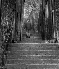 Keep on climbing (Phil_Moore) Tags: ifttt 500px man steps stairs street urban building old light city architecture cityscape uk england