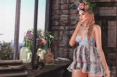 I Know You're Out There Somewhere (desiredarkrose) Tags: deaddollz lode lyrium pose flowers secondlifefashion secondlife sl avatar springmood runawayhair slblog slfashion lelutka korina glamaffair digitalphotography virtualphotography virtualreality fameshed